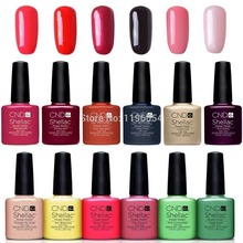 7Pcs/lot CND Shellac Gel Polish Long lasting Soak-off Gel Nail Polish LED UV 7.3ml Hot Nail Gel 79 Colors