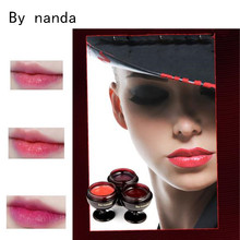 3Color By Nanda Red Wine Glass Lipstick Fruity Jelly Moisturizing Nurtritious LipBalm Natural Long Lasting for Lip Nourish Care