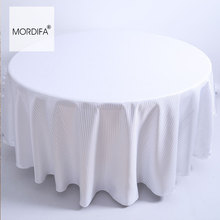 High Quality Christmas Picnic Tablecloth Cheap Plain Dinner dinner Kitchen Table Cloth On The Table Round White For Wedding(China)