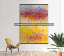 DaFen Wholesale Hand Painted Oil Painting on Canvas New Abstract Landscape Wall Painting for Living Room Hetol Decor Paintings(China)