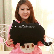 1pcs Free shipping 40cm x 30cm Cute Cartoon Big Face Cat Shape Pillow Cushion Soft Plush  Office Home Sofa Decoration Decor