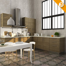 Kitchen cabinet 7 Days Delivery Modular Cabinets Melamine Wooden Kitchen Closet OP14-K005