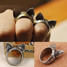 YouMap Jewelry Fashion Vintage Animal Cat Ear Ring Payty Wedding Bands Lovely Zinc Alloy Rings B4R7C