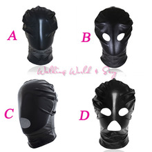 4 Style Bondgae Hood Sexy Mask Light Patent Leather Mask Fetish Head Harness Adult Game Sex Toys For Couples Slave Erotic Toys
