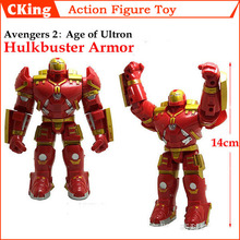 2015 Newe PVC Avengers 2 Age of Ultron Hulkbuster Armor Action Figures Hulkbuster Armor Iron Man Toy Figures 14cm Free Shipping