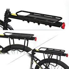 Bearing 80KG High Strength Aluminum Alloy Bicycle Manned Shelf Mountain Bike Rack Bicycle Rear Frame Luggage Cargo Racks