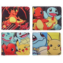 anime Pokemon Pocket Monster Poke Ball pikachu Wallet Children Leather pu Anime Purse Card Wallet For Boys Girls(China)