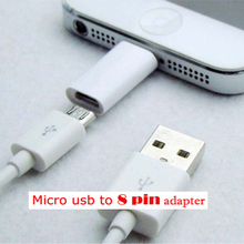 Micro USB Cable To 8 Pin Adapter For iPhone 8 7 6 6S 5 5S 5C SE X ipad Converter Charger 8pin Female Adapter For Android iPhone(China)