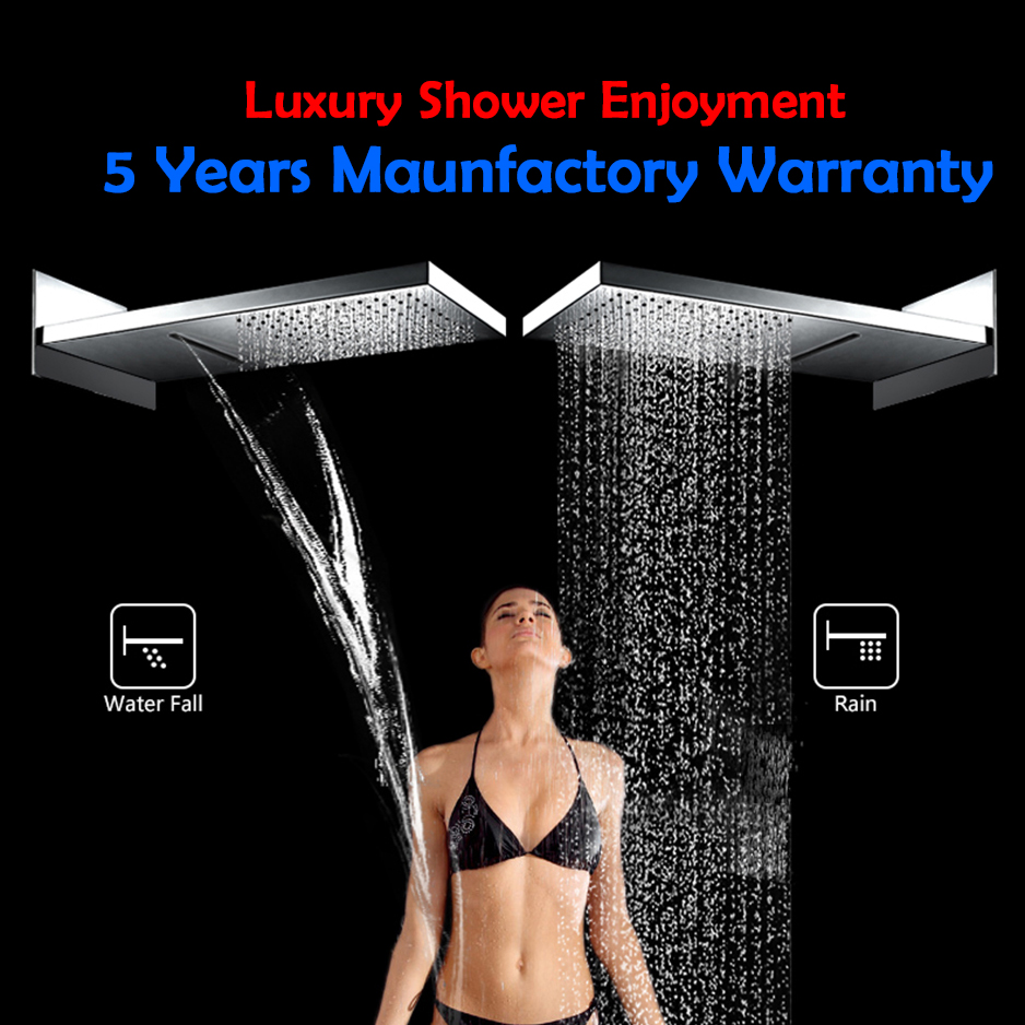 Ulgksd-Waterfall-Rainfall-bath-shower-system-chrome-shower-head-wall-mount-mixer-tap-hand-shower