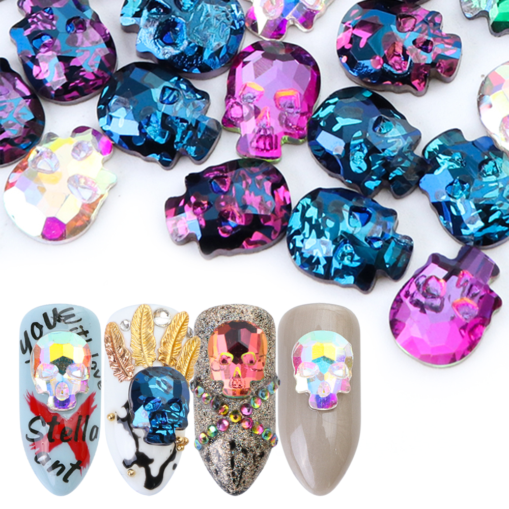 Shape Skull Decoration For Nail