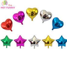 "4pcs/lot 18"" Inch/ 45*45CM Foil Star Balloon mixed heart ballon - Helium Metallic globos for Wedding/birthday supplies(China)"