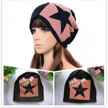 2017 Special Offer Sale Adult Winter Cap Korean Pure Cotton Five-pointed Star Head Caps General Hip-hop Hat Heap Knitting Hats