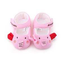 Delebao Cute Elephant Cotton Fabric Baby Girl & Boy Shoes Hook & Loop Soft Sole Infant Toddlers Baby Shoes Wholesale