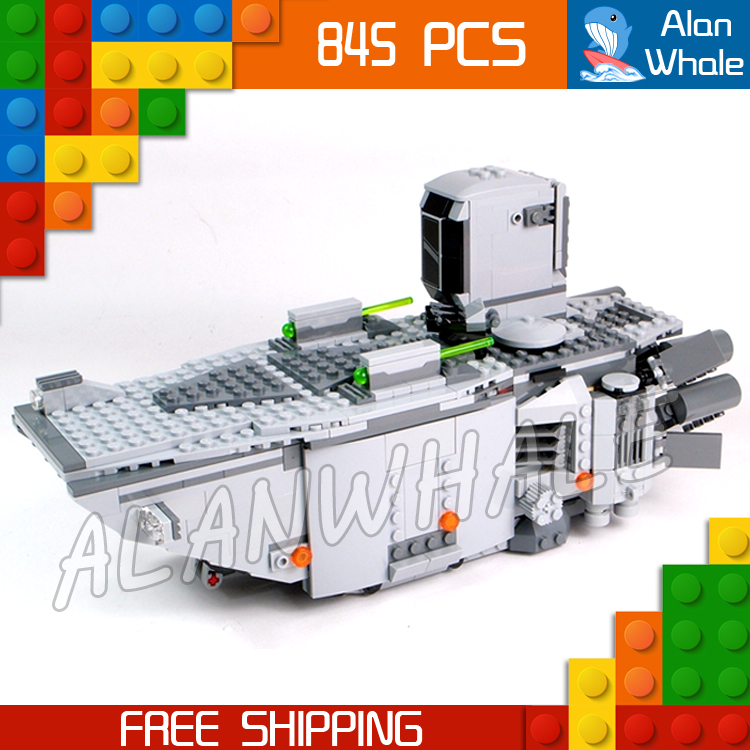 845pcs New Space Wars First Order Transporter 05003 Model Building Blocks Captain Phasma Toys Bricks Compatible With Lego<br>