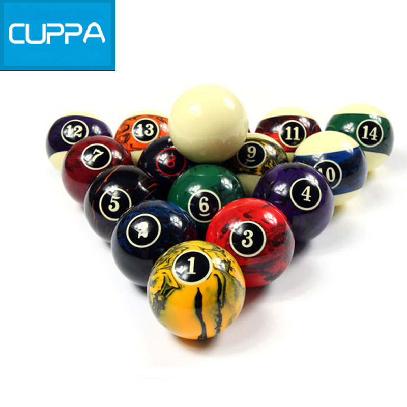 Cuppa Pool Table Billiard Balls Set 57mm Pool billiards Accessories China High Quality(China (Mainland))