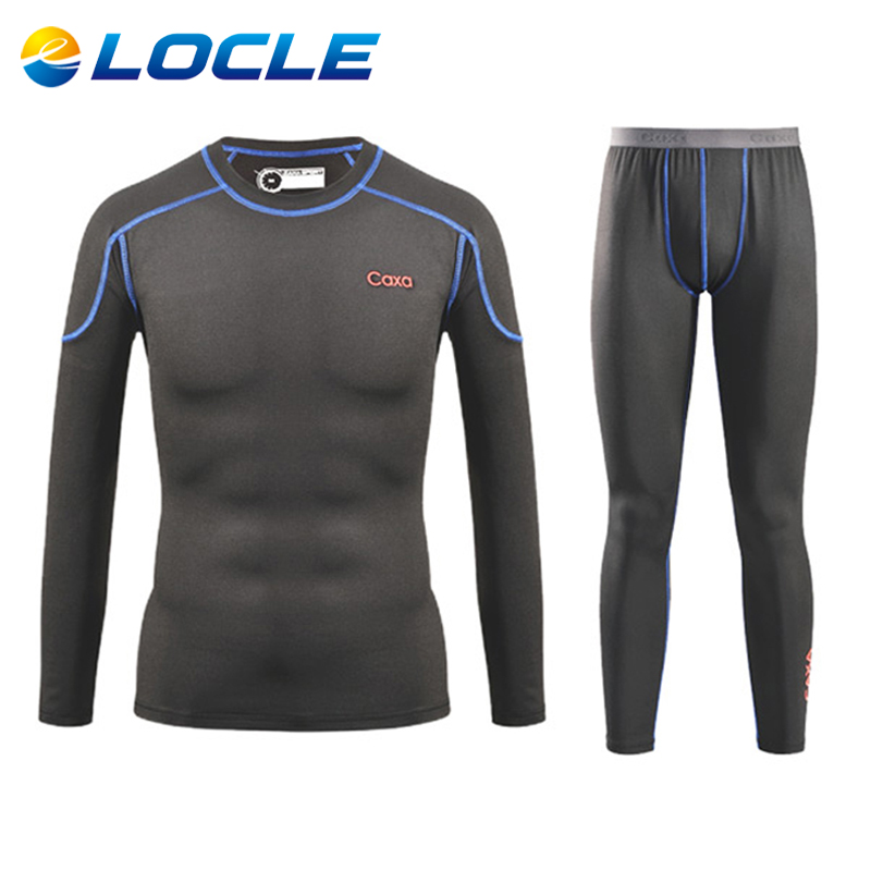 LOCLE Men Quick Dry Thermal Underwear Men Warm Long Johns Men Ski Jacket and Pants For Ski/Hiking/Snowboard/Cycling<br><br>Aliexpress