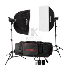 Free DHL 110V/220V Godox DE300 600W /2x 300W Studio Flash Light Strobe Lighting Kit +70x100cm Softbox + Light Stand+Carrying Bag