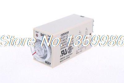 10pcs  time timer relay 8pin H3Y-2 H3Y DC24V  5A   0.1min-3min 3min<br>
