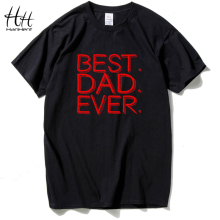 HanHent Gift Dad Letters Best Ever Printed Men's T-Shirt Short Sleeve T Shirt Man O Neck Cotton Casual Top Tees TH5256 - HANHENT HH Official Store store