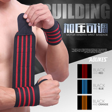1 Pair Adjustable Sport Wrist Support Fitness Professional Pressure Bandage Wrist Protect Weightlifting Dumbbell Wrist Straps(China)