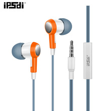 Original Ipsdi HF256 Orange Hot Style Earphones Noise Cancelling Hifi Earphone In-Ear  Android Phone For Iphone Mp3 Player PC