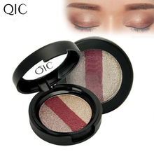 Beauty Earth 3 Colors shimmer light Pigment Eyeshadow Palette Cosmetic Makeup Eye Shadow for women 131-0271(China)