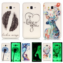 Luminous Case sFor Coque Samsung Galaxy Grand Prime G530 G530H G5308W G531H Night Light Soft TPU Silicone Cell Phone Back Cover