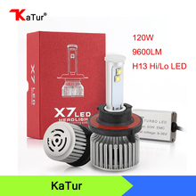 Newest X7 Products H13 Led Car Headlight Bulbs High Low Beam Hi/Lo 6000K Super Bright For Chevrolet cruze High Low Beam DRL