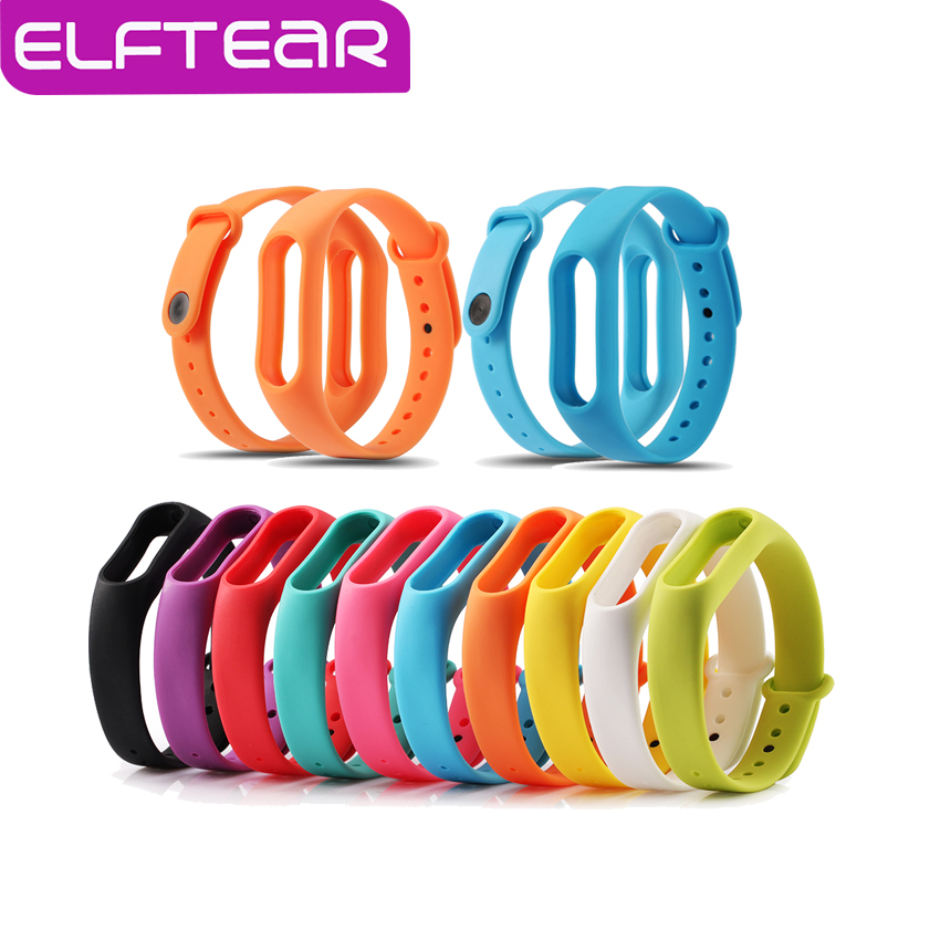 ELFTEAR Multicolors Silicone Wrist Band Bracelet Wrist Strap Replacement for Miband 2 Xiaomi Mi band 2 Smart Band<br><br>Aliexpress