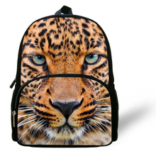 12-inch Mochila Leopard School Bag Animal Backpacks Leopard Printed Fashion Kids School Bag For Boys and Girls Aged 1-6