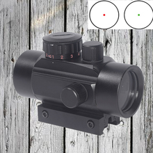 WIPSO Hunting Scope Holographic Optics Red Green Dot Tactical Scope 1X40 Riflescope Sight Dovetail for 11/20mm Rail Mount