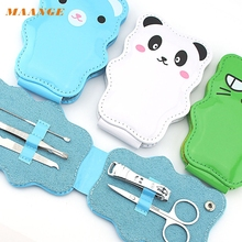 Graceful  5pcs Cartoon Nail Clipper Stainless Steel Lovely Manicure Tools Nail Clipper Set For nail DEC9