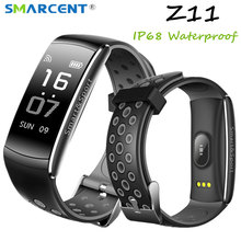 Buy Z11 IP68 Waterproof Smartband Watch Blood Pressure Heart Rate Monitor Smart Bracelet Fitness Tracker Bluetooth Wristband pk S2 for $16.35 in AliExpress store