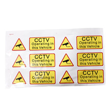 6x CAR CCTV Sticker Decal Sign Security Surveillance Warning Notice Camera 90x30mm