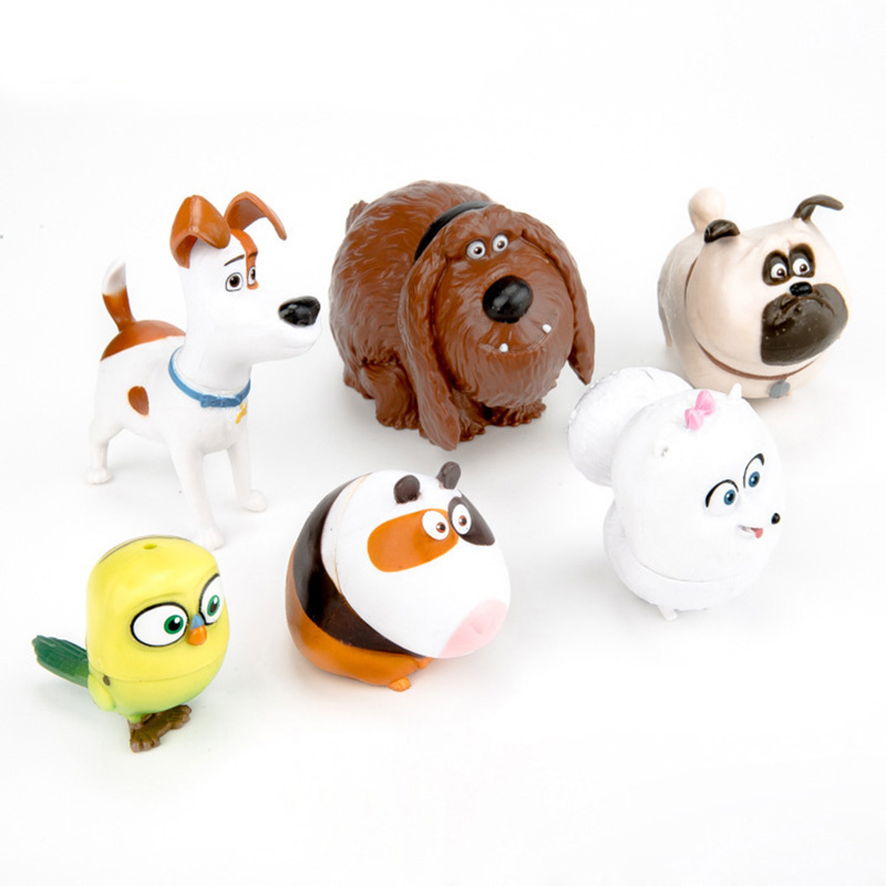 6Pcs/bag News 2017 The Secret Life of Pets LPS Little Pet Shop Toys Animal Cute Cat Dog Action Figures Collection Kids Toys Gift<br><br>Aliexpress