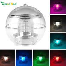 Solar Power LED Floating Night Light Ball Waterproof Multi Color Changing Rechargeable Bulb Lamp for Pond Pool Garden Decoration