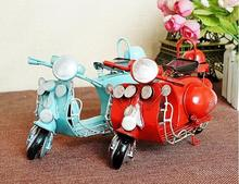 Vintage Scooter Model Retro Motobycle Model Iron Metal Crafts Girls Gift Shooting Props Gifts Bar Restaurant Desktop Home Decor(China)