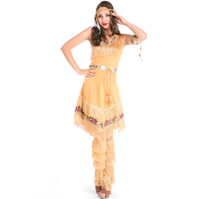 Women Cosplay Ladies Fancy Dress Costumes Wild West Indian Costume Halloween Party Carnival Clothes Sexy Clubwear A158758