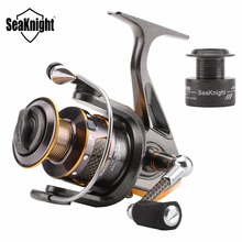 Seaknight DR2000/3000/4000 Series Spinning Fishing Reel 10+1BB 5.2:1/4.7:1 Carbon Fiber Handle Fishing Wheel +1 Spare Spool
