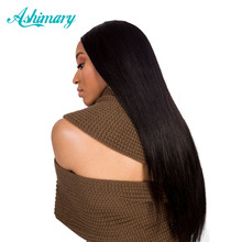 Ashimary Hair Brazilian Straight Hair Bundles 1 Piece Non-Remy Hair Extensions Natural Black Color 100% Human Hair Free Shipping