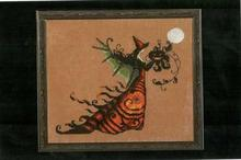 Free delivery Top Quality lovely counted cross stitch kit Electra Halloween Fairy night moon pumpkin(China)