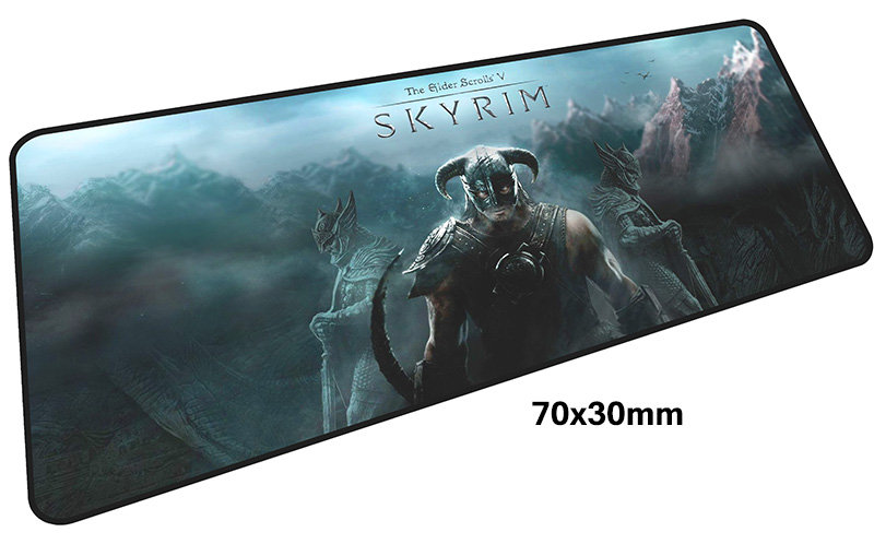 skyrim mouse pad gamer 700x300mm notbook mouse mat large gaming mousepad large Birthday present pad mouse PC desk padmouse 9