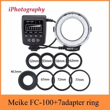 Meike FC-100 FC100 Macro Ring Flash Light for Nikon Canon EOS 650D 600D 60D 7D 550D T4i T3i for Nikon D5300 D7000 D5200 D90 etc(China)