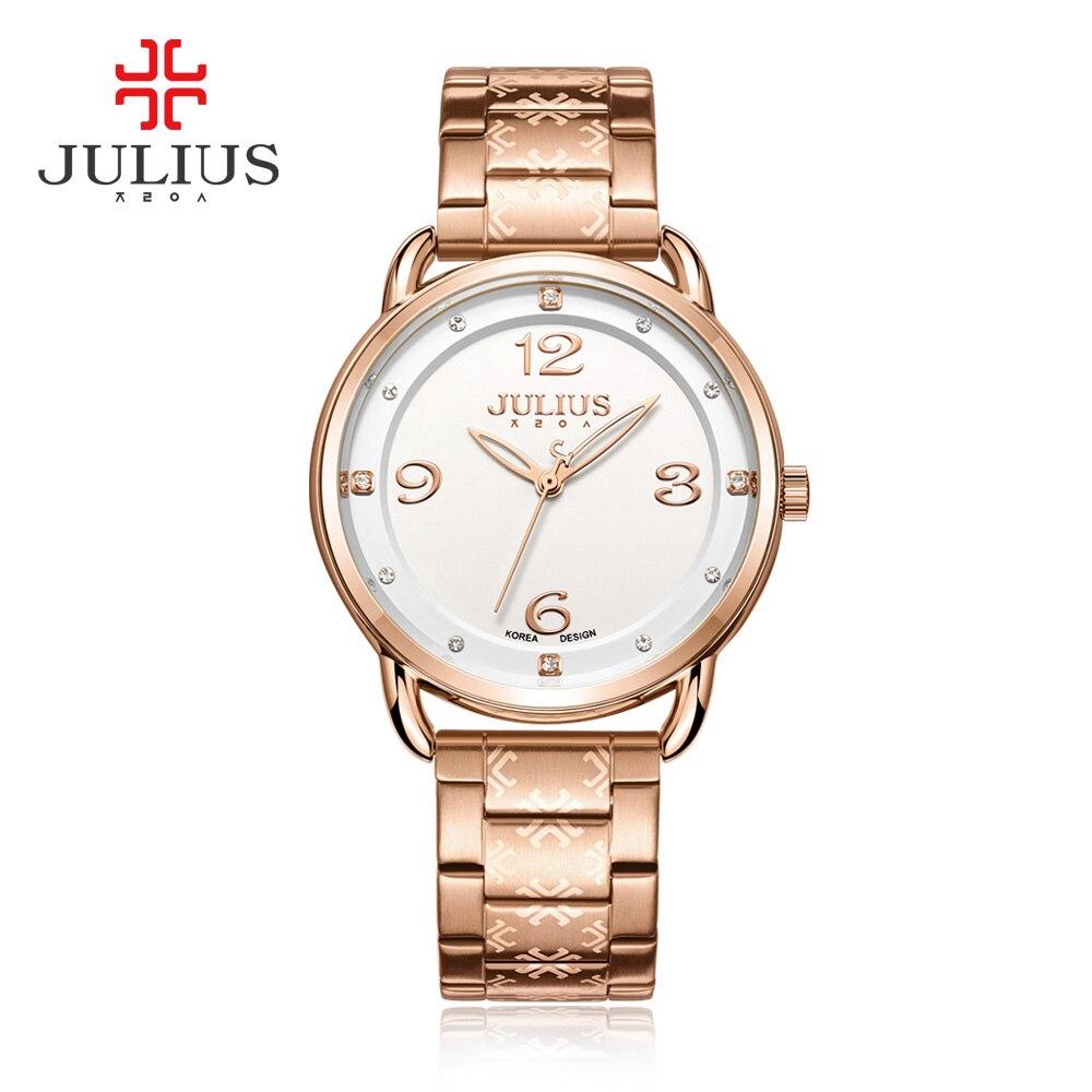 New Womens Watch Japan Quartz Hours Best Fashion Business Dress Stainless Steel Bracelet Girl Christmas Gift Julius Box 936<br>