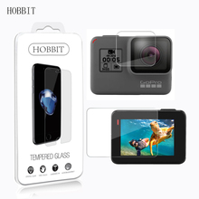For GoPro Hero 5 Black / Hero 6 0.3mm 2.5D 9H Tempered Glass Screen Protector Video Camera Lens Film Screen Display Screen Guard(China)
