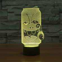 AUCD USB Acrylic Colorful Smoke Coke Expression Cartoon Night Light Bedroom Office LED Table Lamp Child Christmas Gift -150(China)