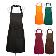 Women Kitchen Restaurant Cooking Cooking BBQ Party Sleeveless Apron Bib Apron Dress With Pocket Housewife Essential Supplies