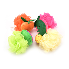 1PCS Lovely fruit shape bath ball bathroom bath sponge rubbing towel shower bath flowers bath brush 4 Styles