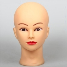 "CAMMITEVER  20"" Mannequin Head Manikin Doll Female Women Display Cosmetology Mannequins For Wig Hairdressing Head Hairstyles"