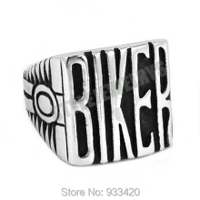 Free shipping! Vintage Engine BIKER Motorcycle Ring Stainless Steel Jewelry Carve Words Motor Biker Men Ring Wholesale SWR0441B(China)